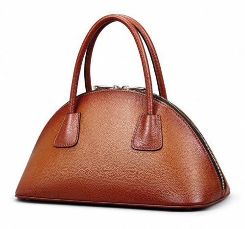 High quality and highly recommended bags built with exquisite sewing.     Product: shoulder bag Material: genuine leather Closure Type: zipper Color: brown khaki Pattern: shell/fan shape Straps:...@ artfire