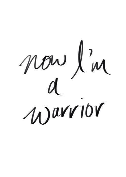 GET INSPIRED : I Am a Warrior  #recoveryquotes #eatingdisorders #eatingdisorderrecovery