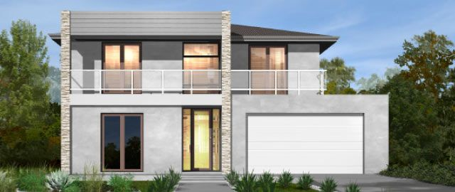 The Taranto Facade Option 01 - from the Weeks Peacock Homes Urban Style Range. The commanding facade of the Taranto will invite you inside to experience the ultimate showcase of modern day living.