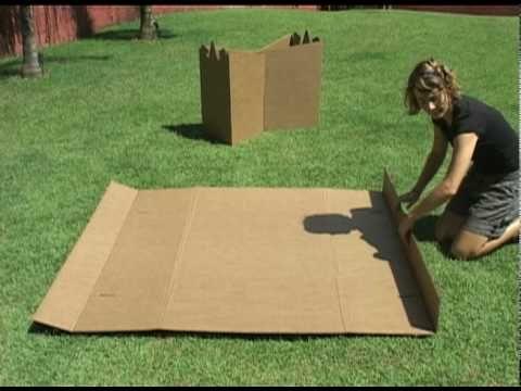 Un meuble de télévision en carton - De sa conception jusqu'à sa construction - - YouTube