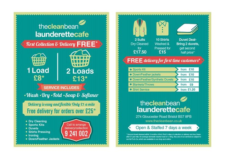 Flyer Design for Our new Laundry Delivery Service