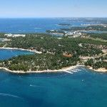 Rent a tent and camp ocean front in Porec (night before leaving for Venice)