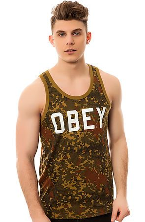 The Collegiate Obey Tank in Blotch Camo by Obey