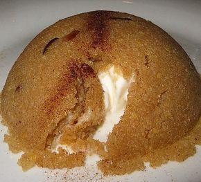 Sizlere harika bir irmikli helva tarifim var, Ev yapımı Nefis dondurmalı irmik tatlısı akşam yemekten sonra harika bir tatlı