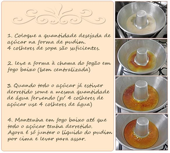 PANELATERAPIA - Blog de Culinária, Gastronomia e Receitas: Como Fazer Calda de Pudim