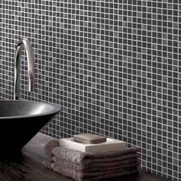 Siyah Kareli Mutfak Banyo Duvar Kağıdı