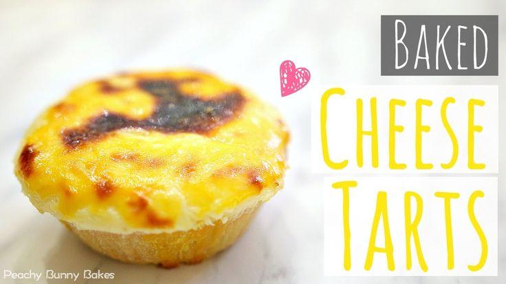 Baked Cheese Tarts⎜日式芝士撻(烤起司塔)[中文字幕] - Peachy Bunny Bakes
