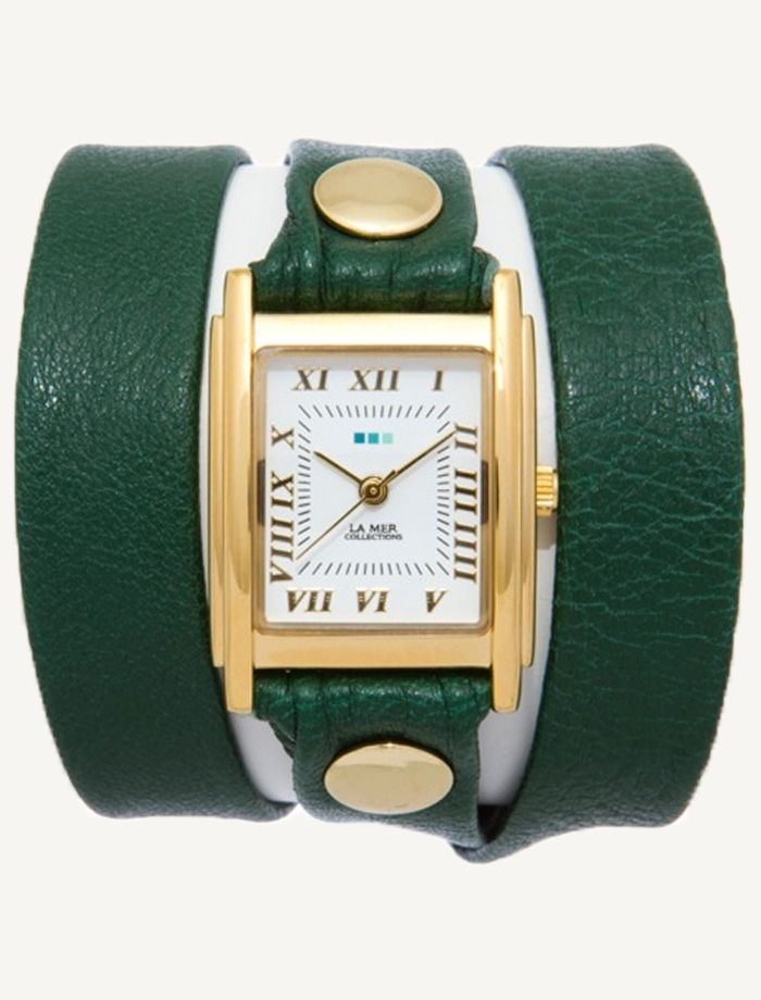 La Mer Watches: Emerald Gold Simple Wrap