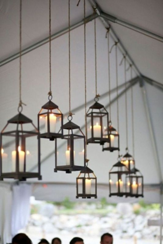 Hanging lanterns for outdoor entertaining plus 9 other  ways to light up the garden at night with candles  #spon #garden #candles