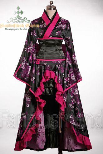 fanplusfriend - Gothic Wa Lolita Wine Peony Kimono 4Pcs Set, $164.80 (http://www.fanplusfriend.com/gothic-wa-lolita-wine-peony-kimono-4pcs-set/)