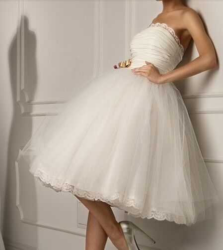 vestido de noiva Robe De Soiree strapless knee length ball gown short  Wedding Dresses 2017 Hot Cheap short Dress For Wedding