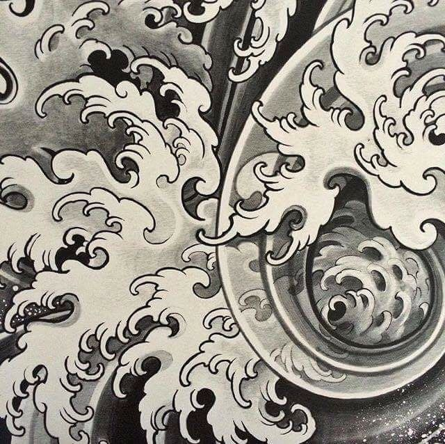 58 besten wolken wellen bilder auf pinterest japanische tattoos japan tattoo und wolke. Black Bedroom Furniture Sets. Home Design Ideas