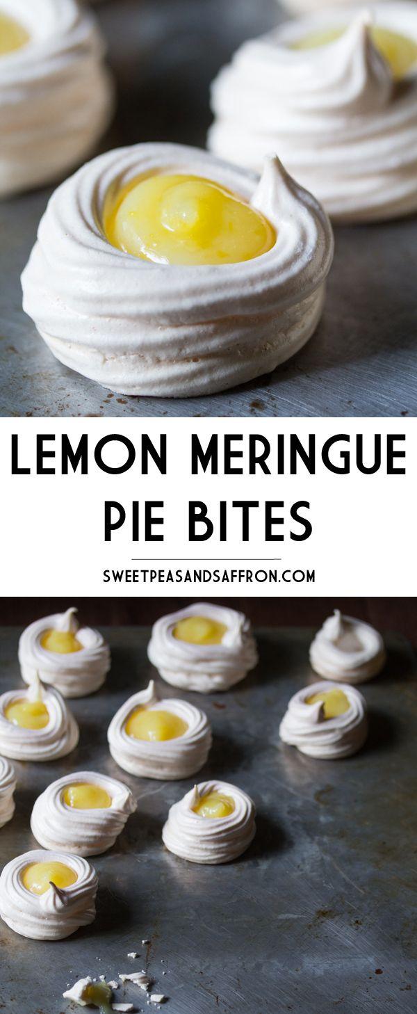 Lemon Meringue Pie Bites (GF) | sweetpeasandsaffron.com @necie83
