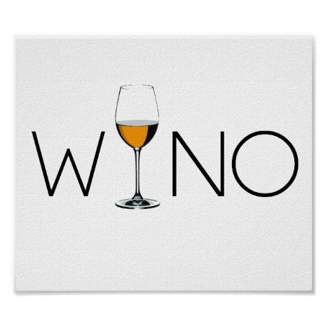 Wino Wine Lover Glass Poster #stpatricksday #art #posters
