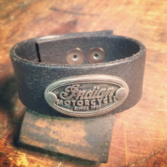 Indian Motorcycle cuff by Decadence   http://www.facebook.com/Decadence.Style