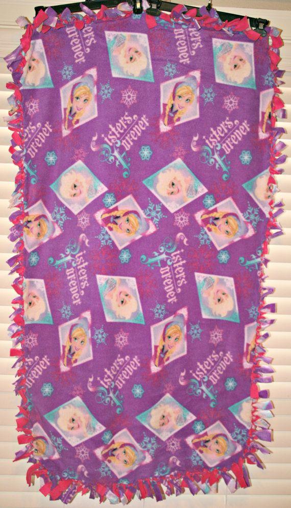 Frozen Tieknot Fleece Blanket By Myfavoriteprints On Etsy