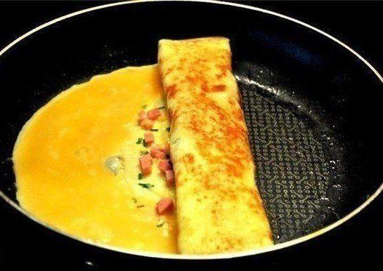 Aj zobyčajnej omelety môžete vykúzliť originálne aveľmi chutné jedlo. Stačí štipka inšpirácie, tak trochu netradičné prevedenie amožno aj niekoľko nových ingrediencií. Na svete je razom chutný pokrm, ktorý lahodí oku rovnako ako chuťovým bunkám. Dobrú chuť! Potrebujeme: 3 vajcia 2 lyžice mlieka Šunku, syr arajčiny nakrájané na drobno (prípadne iné prísady podľa chuti) Postup:...
