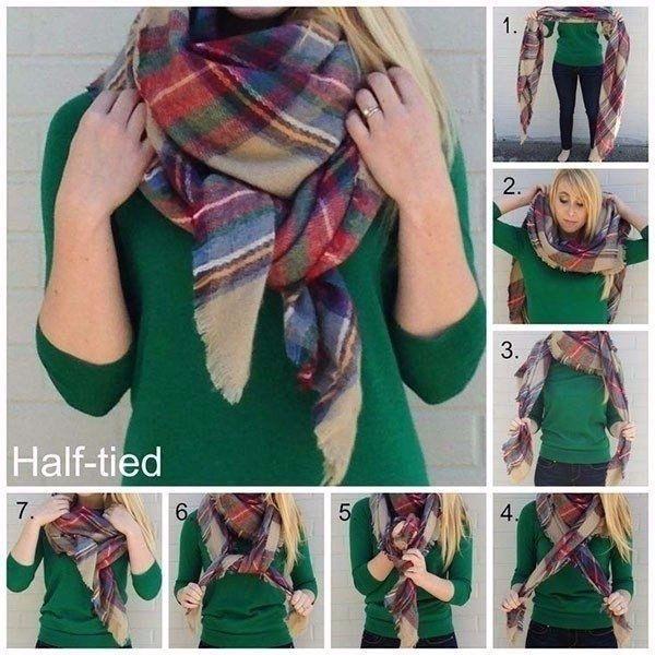 10 идей: Как носить большие шарфы.