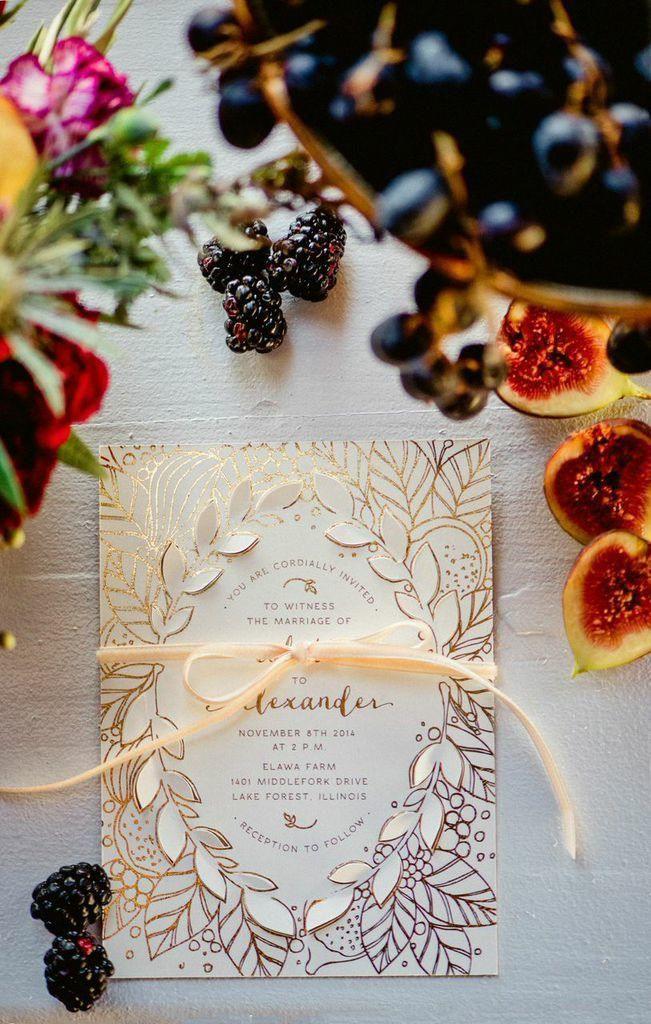 Deliciously Styled Chicago Wedding Shoot from La Belle Fleur - Amanda Megan Miller; wedding invitation idea