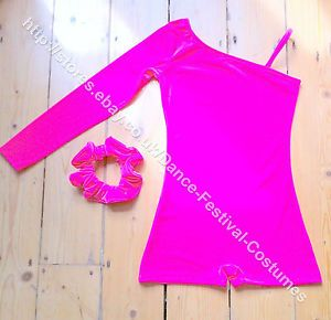 By popular demand, this lovely style now in hot pink with matching complimentary hair accessory.  Check it out in my e bay store: http://stores.ebay.co.uk/Dance-Festival-Costumes