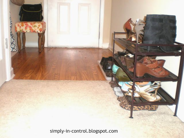 Functional Apartment Entryway - shoe organization for small space