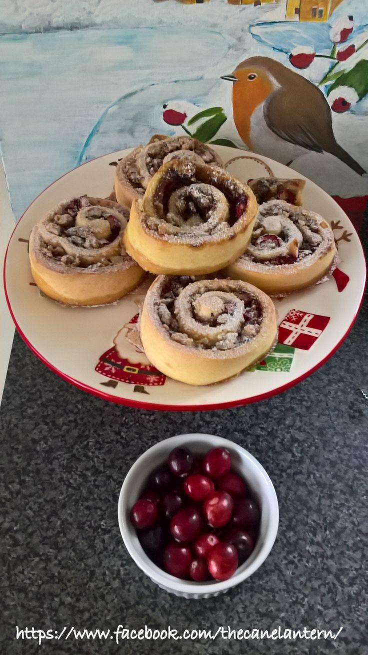 Fresh Cranberry-Walnut Pinwheels.Cane Lantern