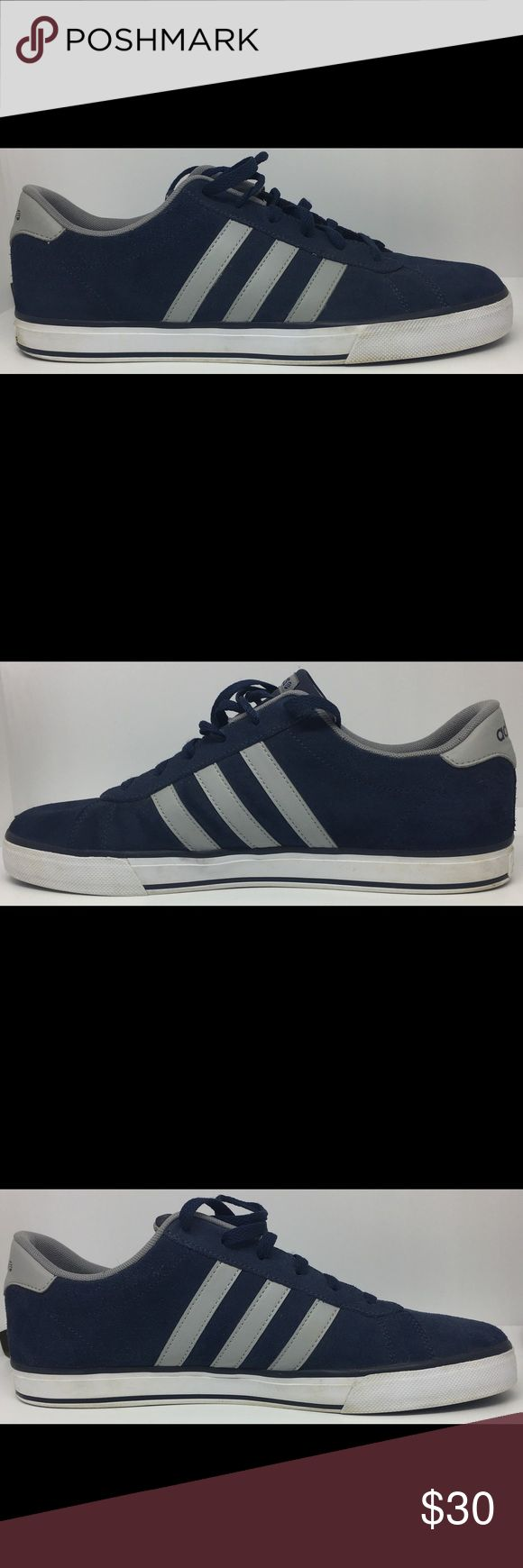 Adidas Neo, SE Daily Vulc Sneakers Navy, Gray Worn a few times. Has wear that can be cleaned up Good Condition. See Pictures. Bin B22 adidas Shoes Sneakers