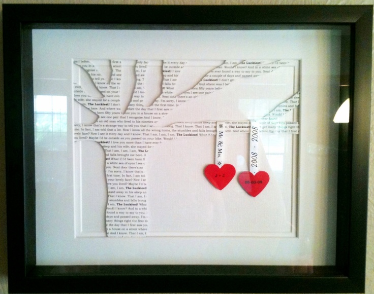 Wedding Or First Dance Song Lyrics 3D Paper Tree