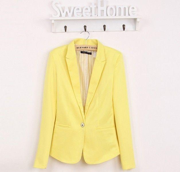 Nova blazer mulheres suit blazer jaqueta marca dobrável feito de algodão e elastano com forro Vogue atualizar blazers em Blazers de Das mulheres Roupas & Acessórios no AliExpress.com   Alibaba Group