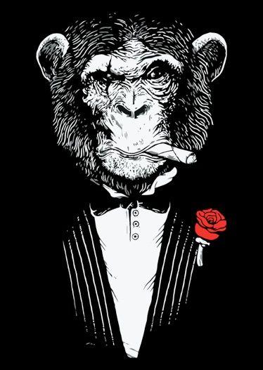 Tiki Monkey tattoo studio - Cool Logo!