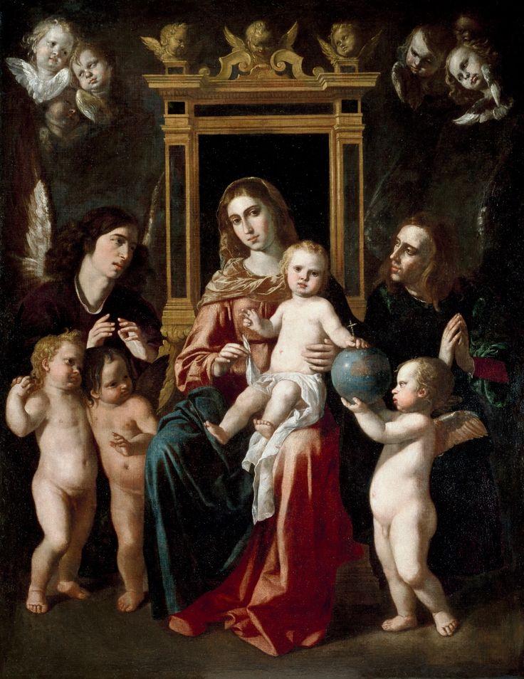 The Virgin and Child on a Throne of Angels / La Virgen con el Niño en un trono con ángeles // ca. 1661 // Jerónimo Jacinto Espinosa // Museo del Prado