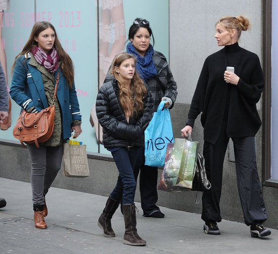 Faith Hill Shopping With Her Kids in London