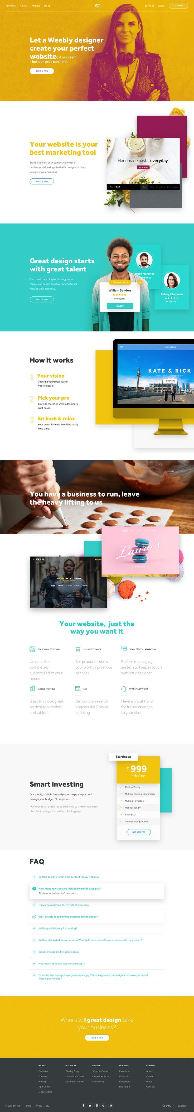 Design services landing page