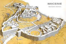Restauro grafico della città di Micene.