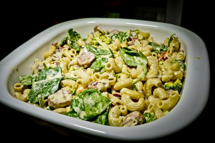 Did something this weekend I haven't done for a very long time, developed and posted a recipe on Spooning Australia. I had some Chilli and Cheese Kranskies from the Frenchs Forest Market and needed some greens in me, so voila - here is my recipe for KRANSKY AND GREENS MAC AND CHEESE - would also work a treat with chorizo :). Hope you like! http://spooningaustralia.com/kranksy-and-greens-mac-and-cheese-recipe/