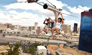Groupon - $ 59 for VIP Go-Pro Ride Package for Two at VooDoo Zipline at the Rio Las Vegas ($149 Value)  in Las Vegas. Groupon deal price: $59