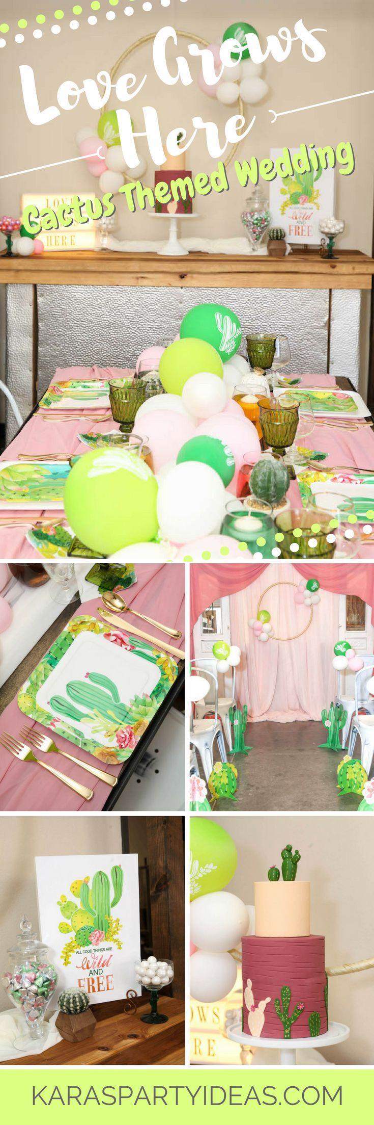 Kara s party ideas rustic country barn wedding party ideas supplies - Love Grows Here Cactus Themed Wedding Via Kara S Party Ideas Karaspartyideas Com