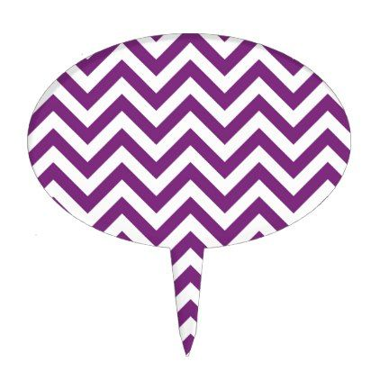 Purple Chevron Pattern Cake Topper - stylish gifts unique cool diy customize