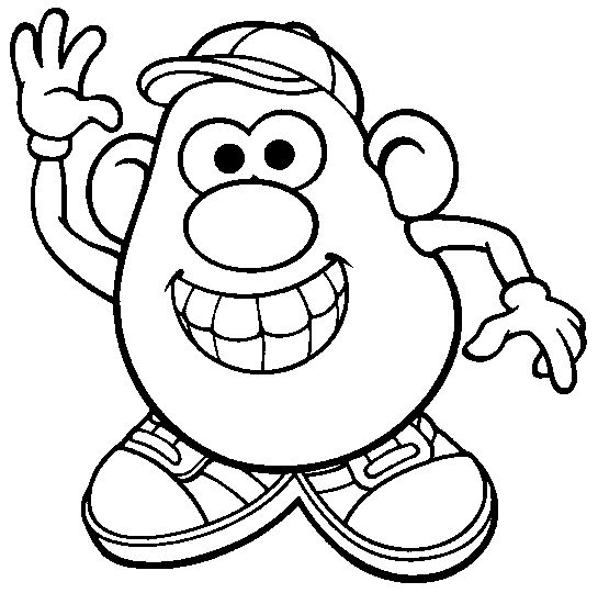 mr -potatohead coloring page