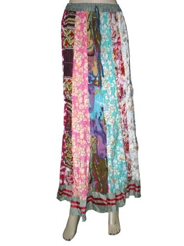 "Gypsy Retro A-line Fashion Skirts Slate Gray with Multi Colored Patchwork Cotton Designer Long Skirts 36"" Mogul Interior, http://www.amazon.com/dp/B008YRMCO8/ref=cm_sw_r_pi_dp_3SIlqb0QCDYJM    $24.99"