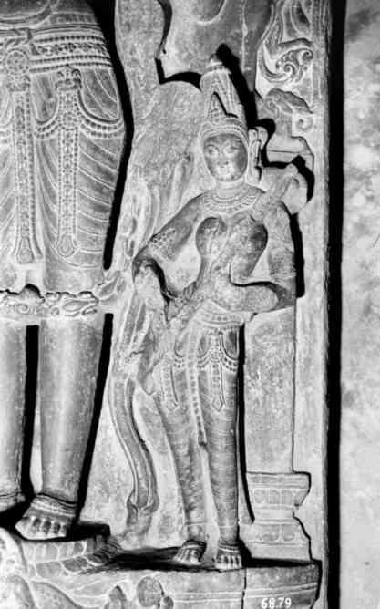 Visnu (detail) from Munshiganj, Bangladesh, Black Stone, Dhaka Museum