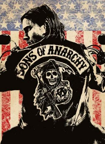 Poster da 1ª temporada da série Sons of Anarchy.