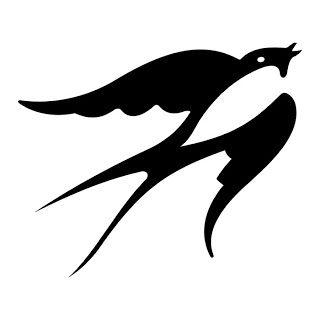 Bird Tattoo Stencil - Scissor from Below