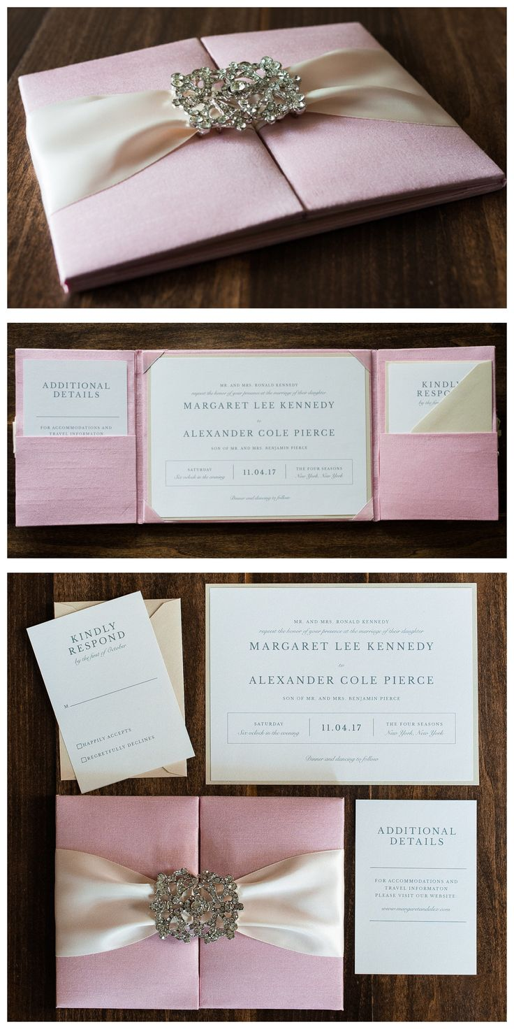 Luxury Boxed Wedding Invitation with Crystals by