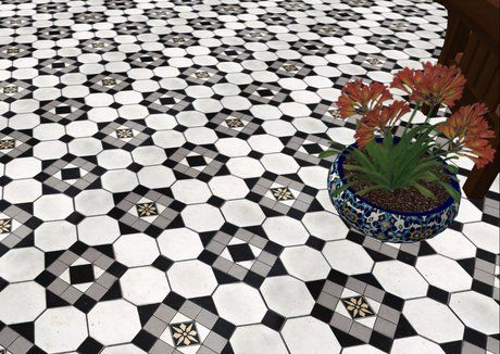 GBBT Victorian Mosaic Tile Floor kitchen