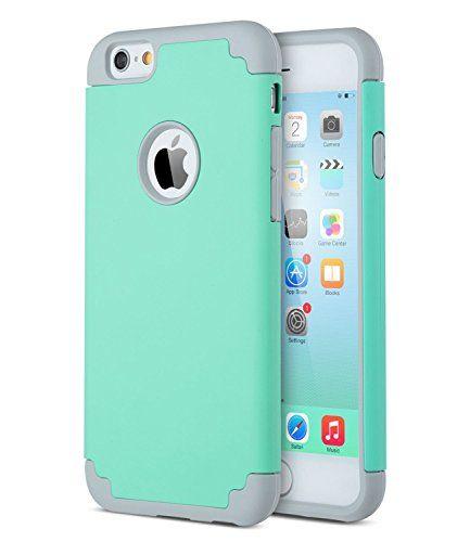"ULAK iPhone 6 6S 4.7"" Funda Case doble protección de capa delgada de Hñbrida a prueba de golpes de silicona Carcasa de piel para el iPhone de Apple 6 4.7 ""con protector de pantalla (Turpuoise / gris) - http://www.tiendasmoviles.net/2017/02/ulak-iphone-6-6s-4-7-funda-case-doble-proteccion-de-capa-delgada-de-hnbrida-a-prueba-de-golpes-de-silicona-carcasa-de-piel-para-el-iphone-de-apple-6-4-7-con-protector-de-pantalla-turpuoise-gris/"