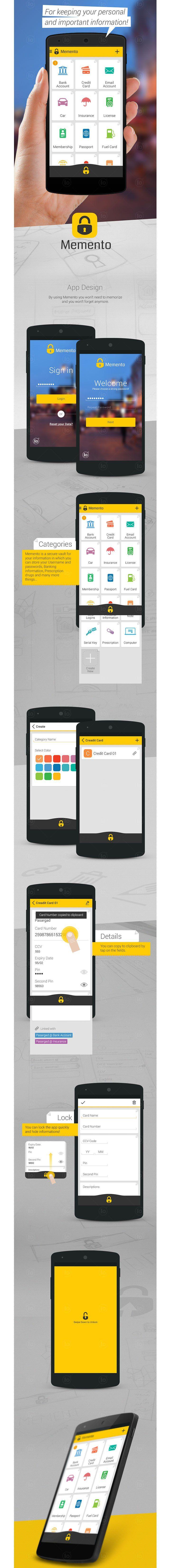 Memento_App Design