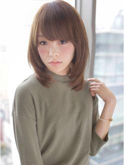 アフロート ジャパン AFLOAT JAPAN 有村架純さん風ふんわりひし形カットのミルクティーベージュ☆