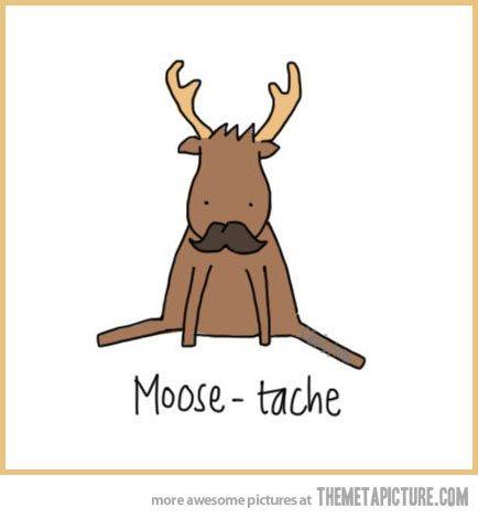 Moose-tache… <3