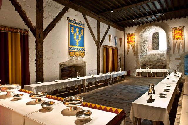 Dover Castle medieval Guest Hall - reconstruction | English Heritage